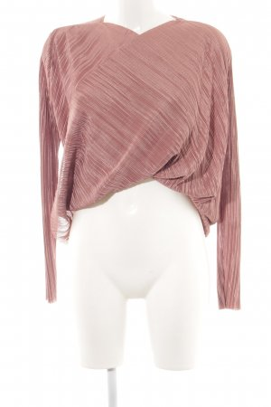 NA-KD Langarm-Bluse roségoldfarben-rostrot Casual-Look