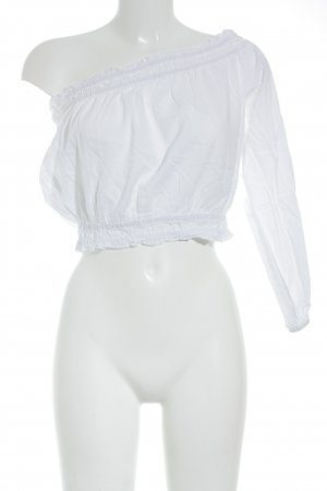 NA-KD Langarm-Bluse weiß Casual-Look