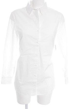 NA-KD Langarmhemd weiß klassischer Stil