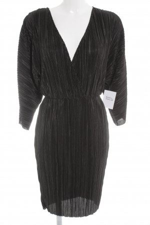 NA-KD Midi-jurk zwart wetlook