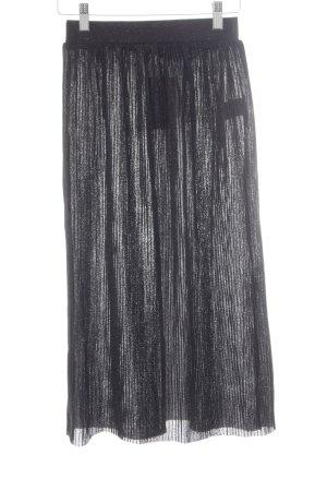 NA-KD Midirock schwarz-silberfarben Elegant