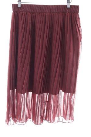 NA-KD Falda midi violeta look casual