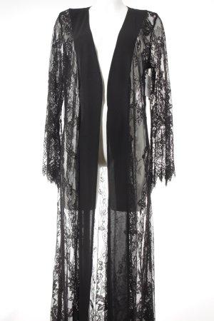 NA-KD Morgenmantel schwarz extravaganter Stil