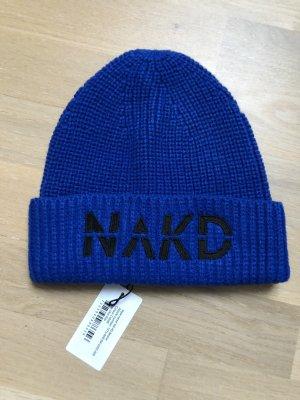 NA-KD Gebreide Muts blauw