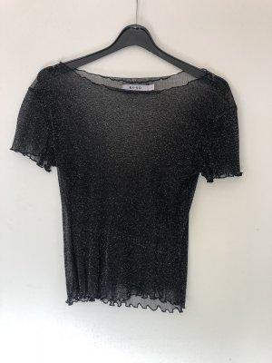 NA-KD Camiseta negro-color plata