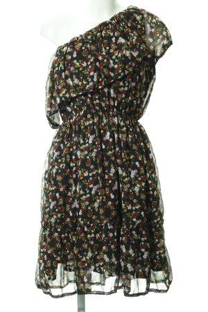 NA-KD One-Shoulder-Kleid florales Muster Romantik-Look