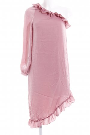 NA-KD One-Shoulder-Kleid rosa Schimmer-Optik