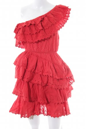 NA-KD One Shoulder Dress red extravagant style