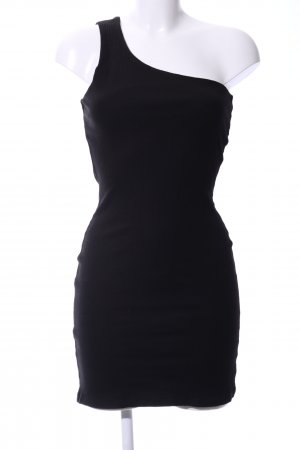 NA-KD One-Shoulder-Kleid schwarz Casual-Look