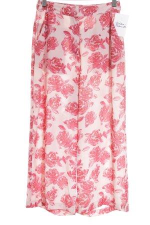 NA-KD Pantalón palazzo rosa-magenta estampado floral elegante