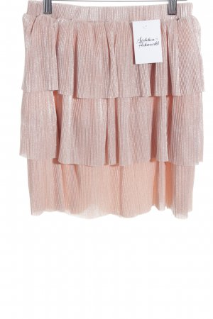 NA-KD Pleated Skirt nude glittery