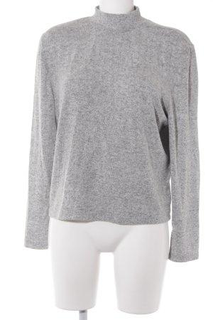 "NA-KD Rollkragenpullover ""Deep Back Knitted Sweater"" hellgrau"