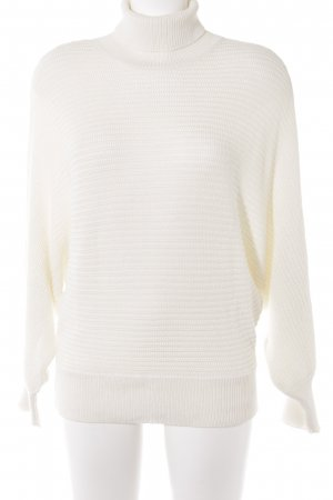 """NA-KD Jersey de cuello alto """"Folded Knitted Sweater"""" blanco puro"""