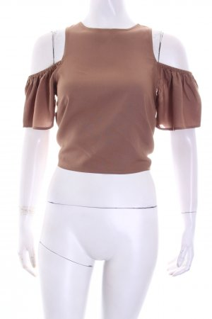 NA-KD Backless Top light brown street-fashion look