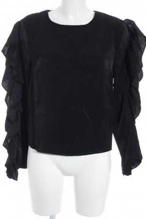 NA-KD Ruffled Blouse black polyester