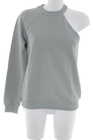 NA-KD Rundhalspullover graugrün minimalistischer Stil