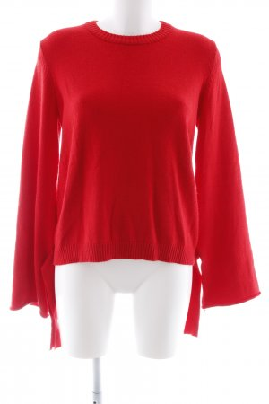 NA-KD Rundhalspullover rot Casual-Look
