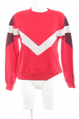 NA-KD Rundhalspullover rot grafisches Muster Casual-Look