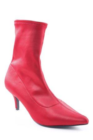 NA-KD Schlüpf-Stiefeletten rot extravaganter Stil
