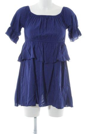 NA-KD schulterfreies Kleid dunkelblau Casual-Look