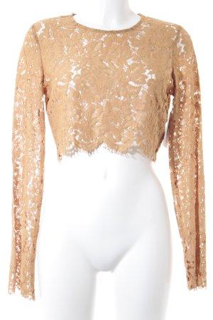 NA-KD Kanten blouse goud Oranje Geweldige look