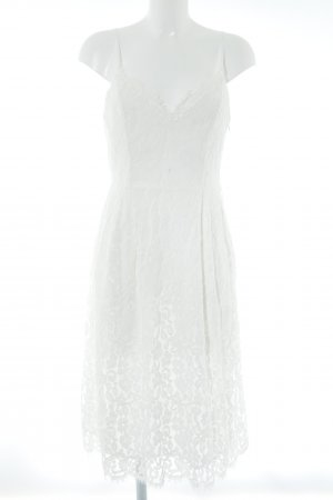 "NA-KD Spitzenkleid ""Scalloped Edge Lace Dress White"" wollweiß"