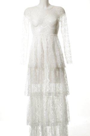 NA-KD Spitzenkleid weiß Elegant