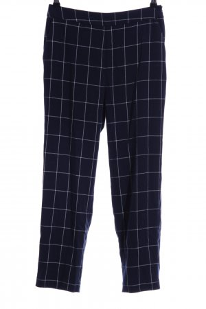 NA-KD Pantalón tipo suéter azul oscuro-blanco estampado a cuadros