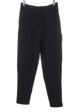 "NA-KD Stoffhose ""Glittery Highwaist Trousers"" schwarz"