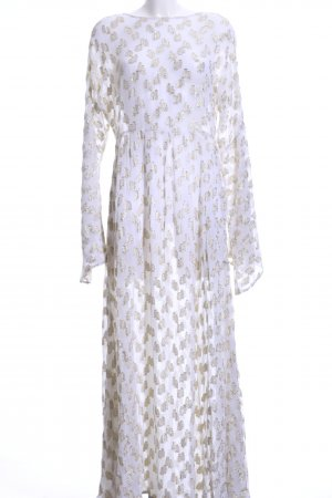 NA-KD Beach Dress white-gold-colored spots-of-color pattern beach look