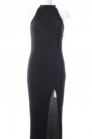 NA-KD Knitted Dress black elegant