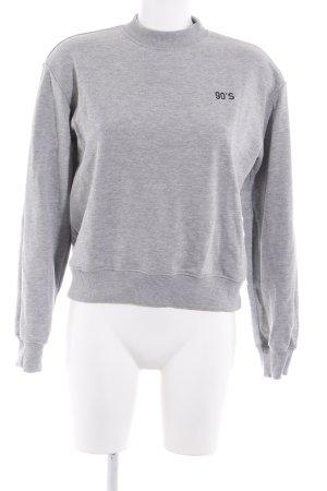 NA-KD Sweatshirt grau Casual-Look