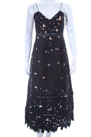 NA-KD Trägerkleid schwarz-beige florales Muster Eleganz-Look