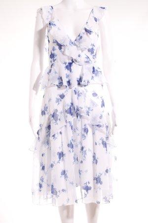 NA-KD Trägerkleid weiß-blau Blumenmuster Casual-Look