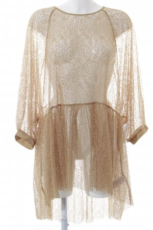 NA-KD Transparenz-Bluse sandbraun Street-Fashion-Look