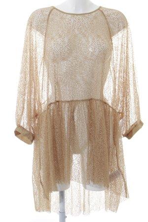 NA-KD Transparante blouse zandig bruin straat-mode uitstraling