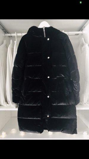 NA-KD Oversized Jacket black-silver-colored