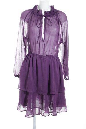 NA-KD Volante jurk lila romantische stijl