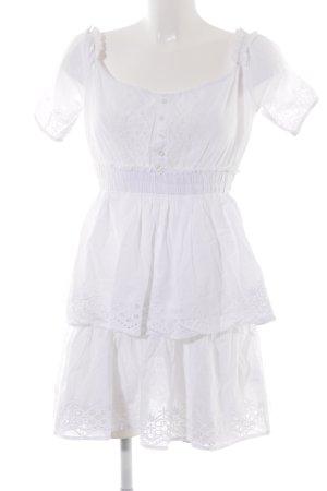 NA-KD Abito a balze bianco Motivo a maglia leggera stile casual
