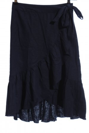 NA-KD Wraparound Skirt dark blue casual look