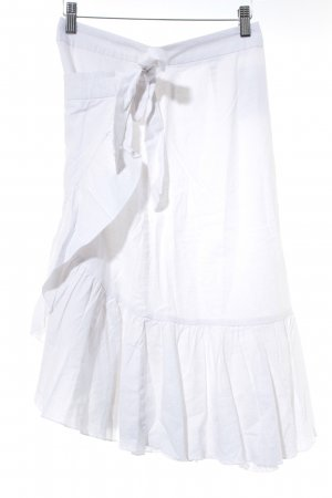 NA-KD Jupe portefeuille blanc style campagnard