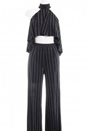 NAANAA London Kostüm schwarz-silberfarben Streifenmuster Elegant