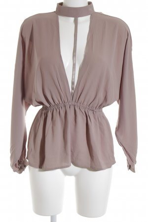 NAANAA London Tie-neck Blouse grey lilac-mauve elegant