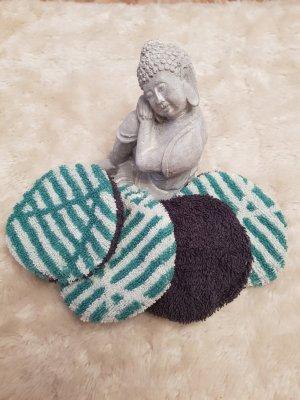 Peignoirs de bain gris-turquoise