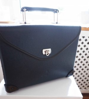 Laptop bag black-dark blue leather
