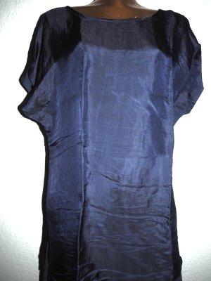 Blusa de seda azul oscuro Seda