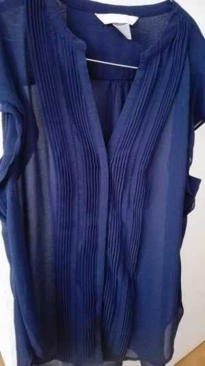 Nachtblaue transparente Bluse Gr 42