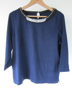 Luisa Cerano Short Sleeve Sweater blue viscose
