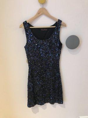 Nachtblaues Paillettenkleid