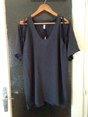 Nachtblaues Seidenkleid